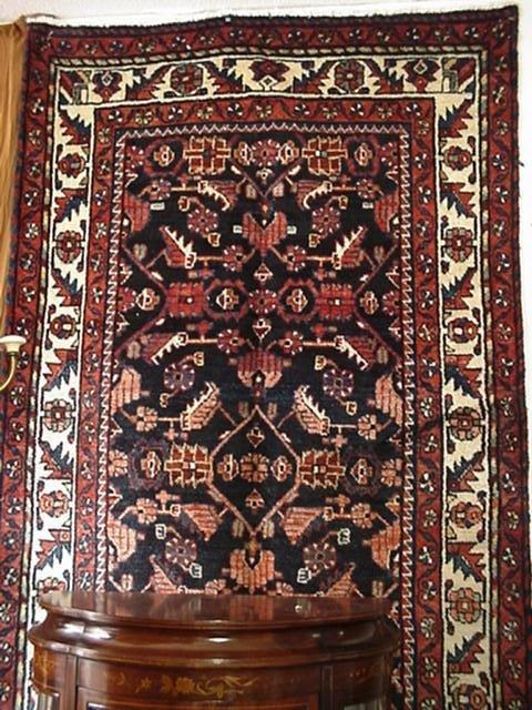 421: All Wool Hand Loomed Iranian Hamadan Runner: 40661