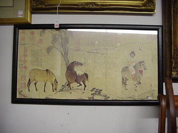 549: Two Framed Chinese Prints: