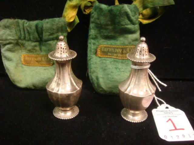 1: Pair of TIFFANY & CO Sterling Silver Shakers: