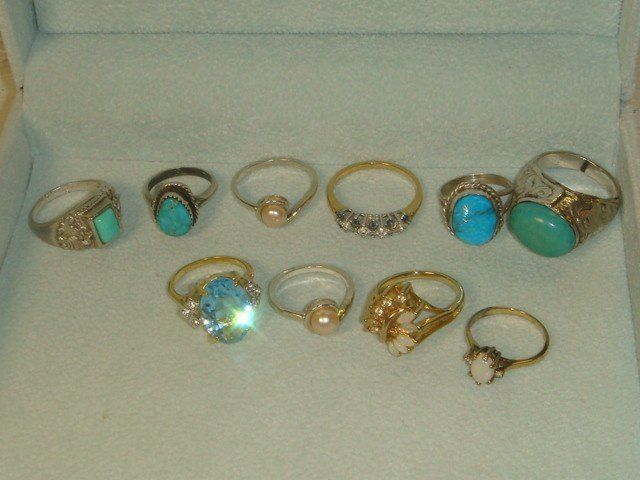 5: Ten Gold Filled and Sterling Rings: