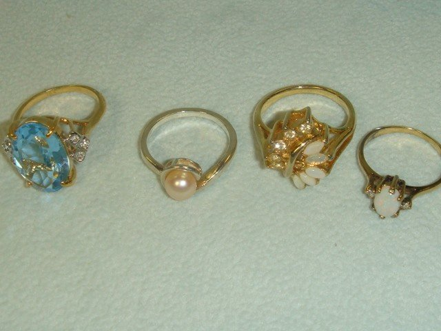5: Ten Gold Filled and Sterling Rings: - 2