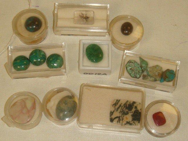 8: Collection of 16 Semi Precious Unset Stones: