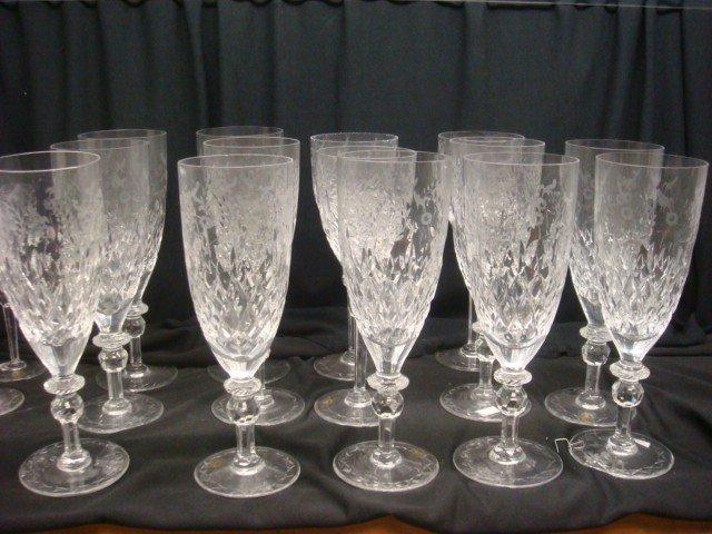 28: Twelve Lead Crystal Yugoslavia Water Goblets:
