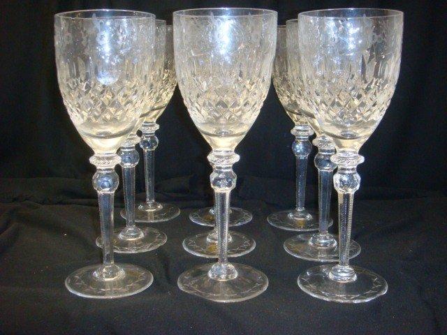 28A: Twelve Lead Crystal Yugoslavia Red Wine Stems: