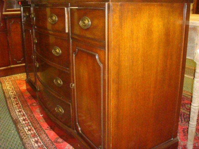 33: Nine Piece Mahogany Dining Room Set: - 5