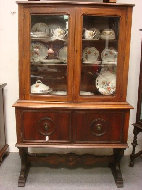 52: Two Door Glass Front China Cabinet: