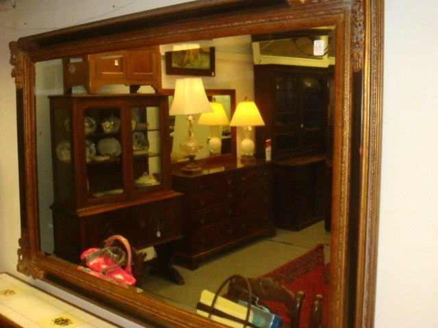 55: Large Beveled Glass Wall Mirror:
