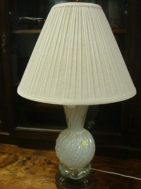 61: Art Glass Vase Form Table Lamp: