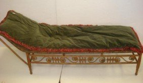 Victorian Scroll Bamboo Frame Chaise Lounge: