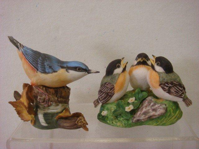 181: Handpainted Retired FRANKLIN MINT Porcelain Birds: - 2