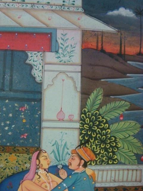 342: 19th Cent. Erotic Persian Kama Sutra Book Leaf: