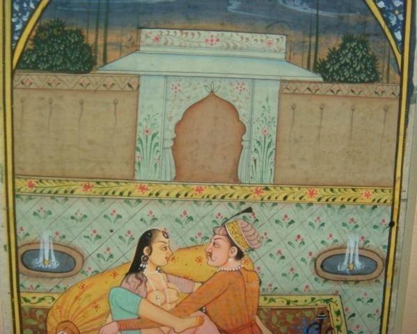 343: 19th Cent. Erotic Persian Kama Sutra Book Leaf:
