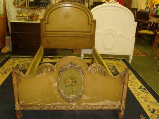 - 16: Pair Of SLIGH FURNITURE French Twin Beds: