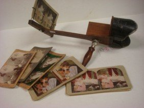 American Stereoscope Co. Photo Viewer And 11 Cards