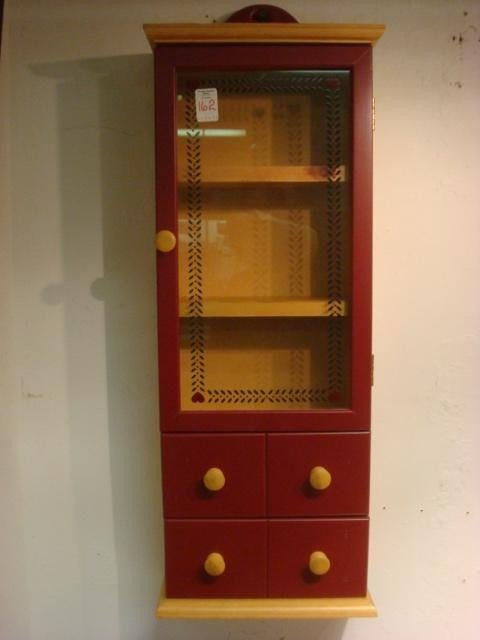 162: Two Drawer Single Door Spice Cabinet: