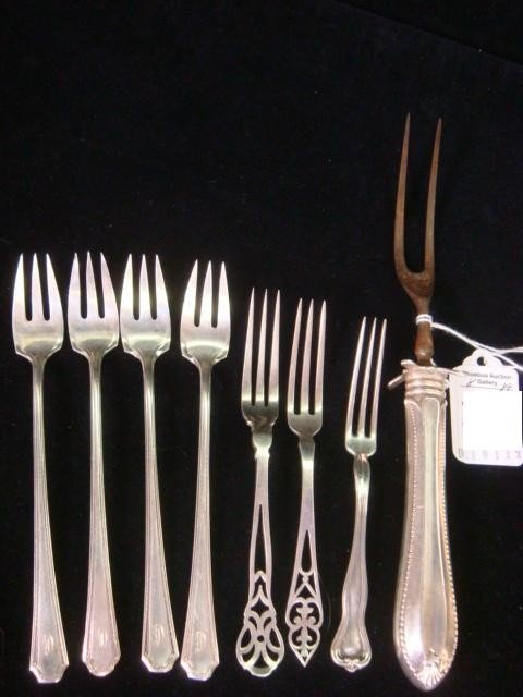 168: Eight Assorted Sterling Silver Forks: