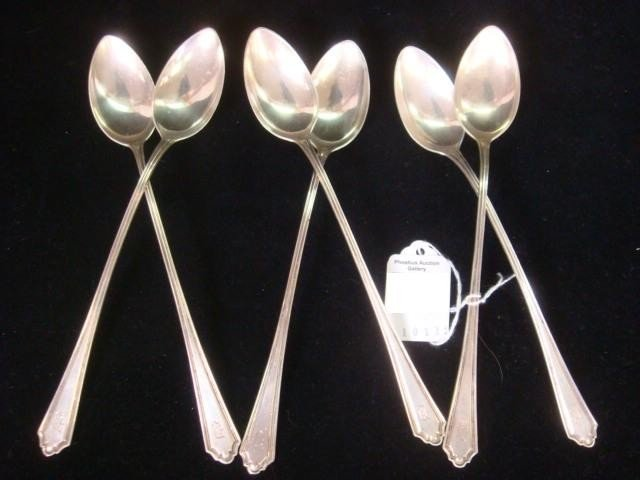 169: Six ALVIN Hamilton Sterling Silver Ice Tea Spoons: