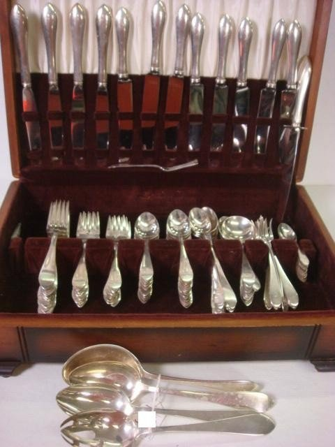 171: DOMINICK & HAFF Pointed Antique Sterling Flatware