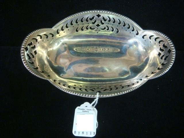 172: TIFFANY & CO Sterling Silver Pierced Footed Bowl: