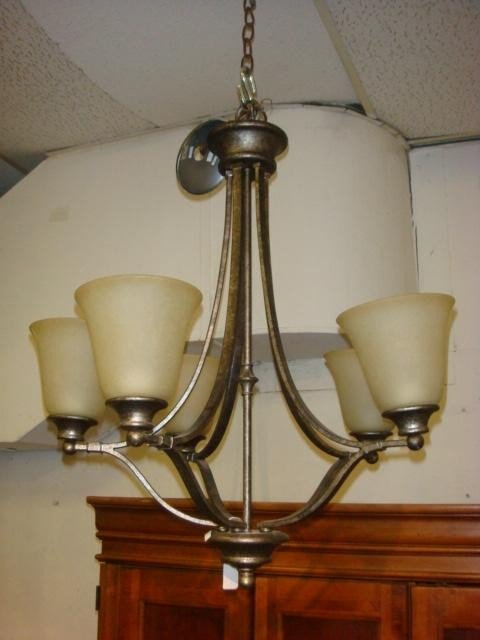 174A: Five Arm Contemporary Chandelier: