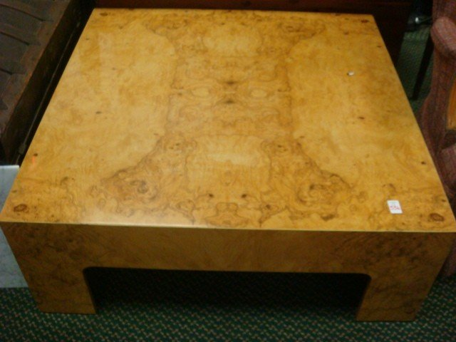 177: Quality Matched Veneer Blond Burlwood Coffee Table