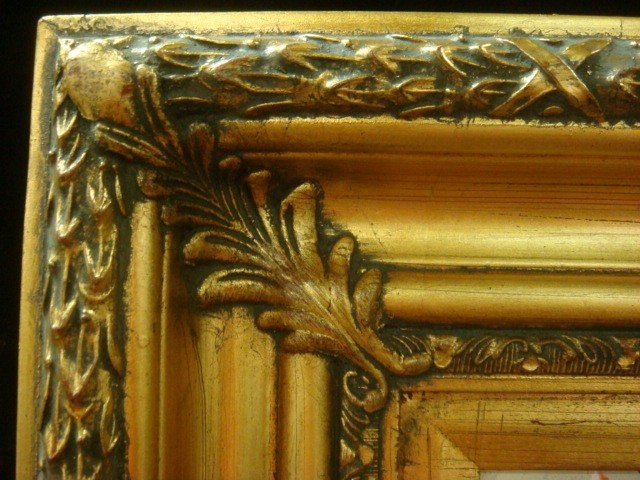 285: Signed Oil on Canvas Still Life in Ornate Gold Fra - 4