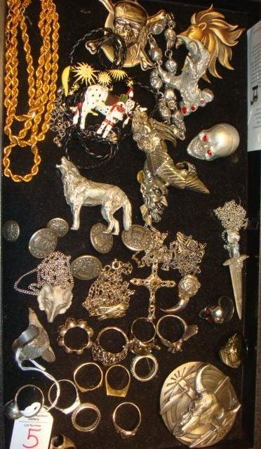 5: Silvertone, Silver, and Pewter Costume Jewelry: