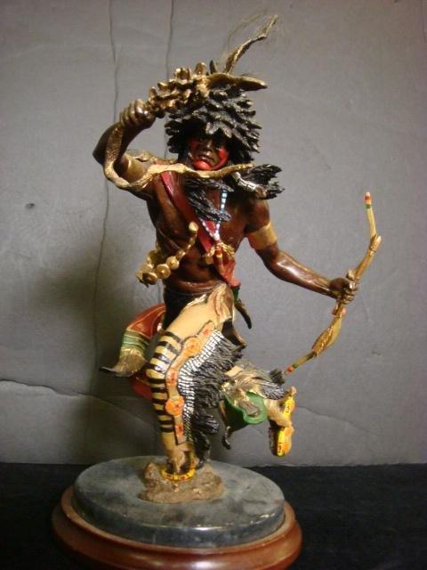 24: RF MURPHEY Spirit of Raven Bronze Sioux Figure:
