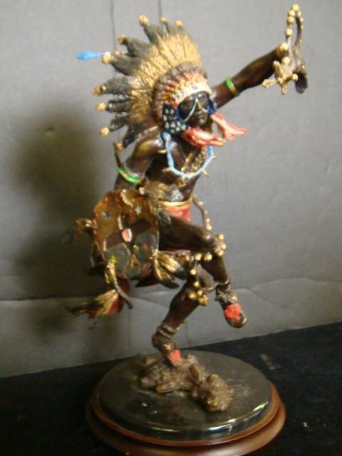 25: RF MURPHEY Spirit of Thunderbird Bronze Sioux Figur