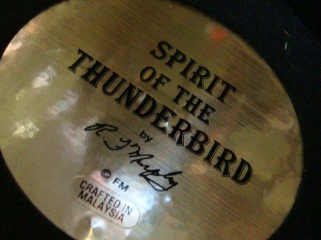 25: RF MURPHEY Spirit of Thunderbird Bronze Sioux Figur - 3