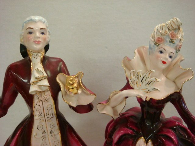 27: Two FLORENCE CERAMIC Porcelain French Figurines: - 2