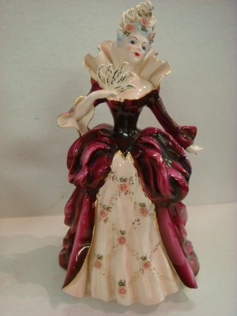 27: Two FLORENCE CERAMIC Porcelain French Figurines: - 4