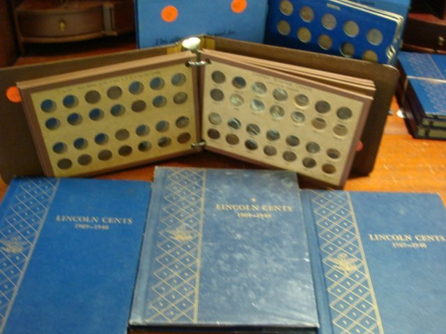 88B: Five Coin Books with 300+ Wheat Pennies