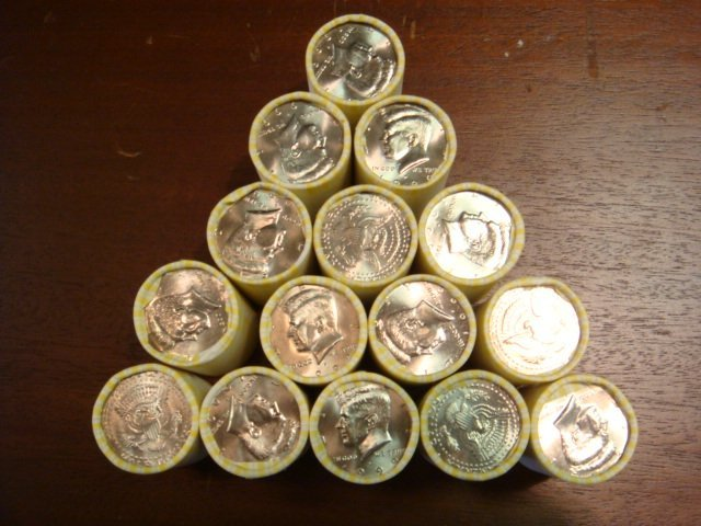 89: 15 BU Rolls of 1999 KENNEDY HALF DOLLARS: