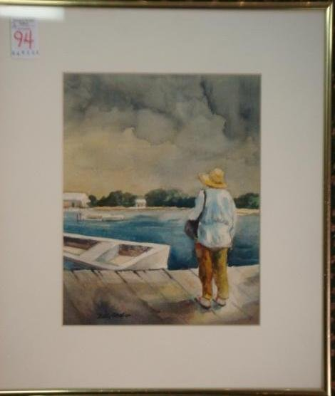 94: Signed BETTY ANGLIN Watercolor: