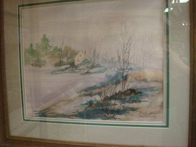 95: Signed CAROL WIEN Landscape Watercolor: