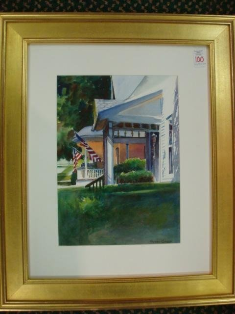 100: Signed SUSAN CHECK Watercolor of Home in PA: