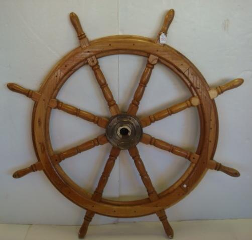 152: Eight Spoke Wooden Ships Wheel: