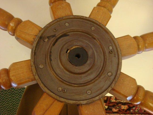 152: Eight Spoke Wooden Ships Wheel: - 2