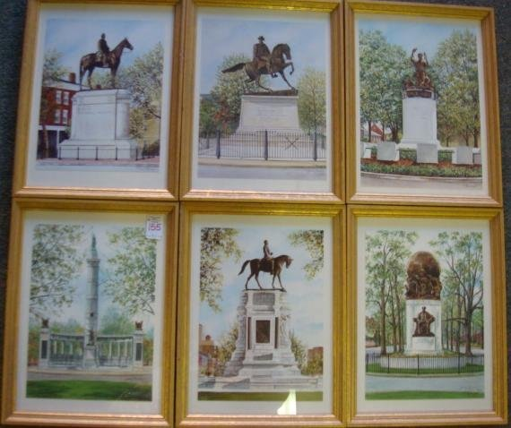 155: Six JUDY NEWCOMB Signed Prints, Monuments Richmond