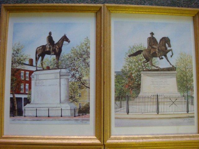 155: Six JUDY NEWCOMB Signed Prints, Monuments Richmond - 2
