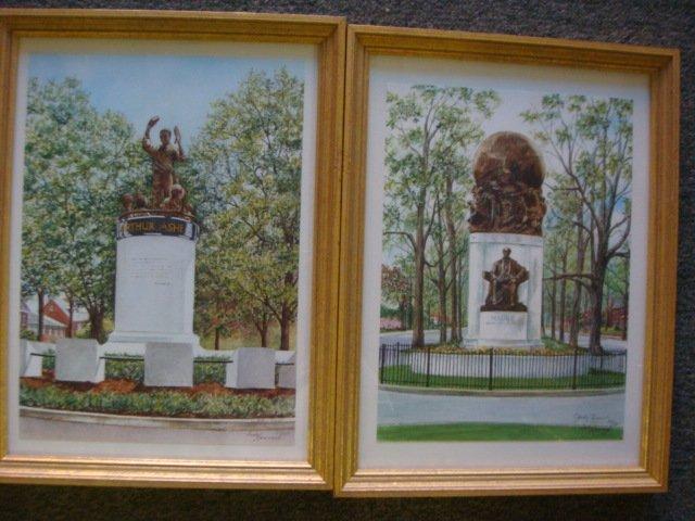 155: Six JUDY NEWCOMB Signed Prints, Monuments Richmond - 3