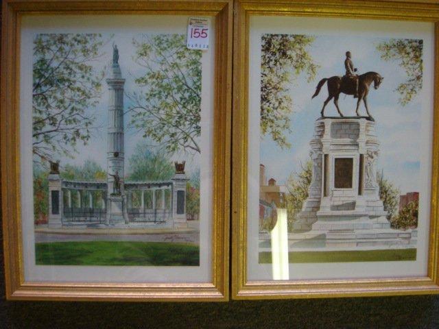 155: Six JUDY NEWCOMB Signed Prints, Monuments Richmond - 4