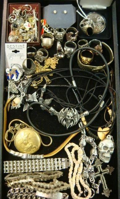 290: Collection of Men's Costume Jewelry: