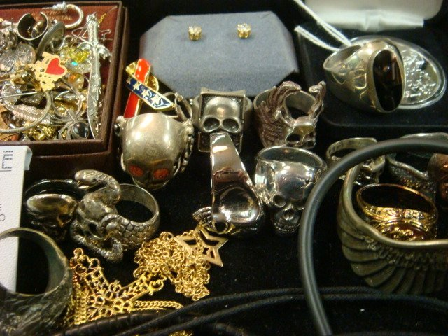 290: Collection of Men's Costume Jewelry: - 2