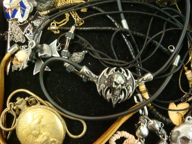 290: Collection of Men's Costume Jewelry: - 3