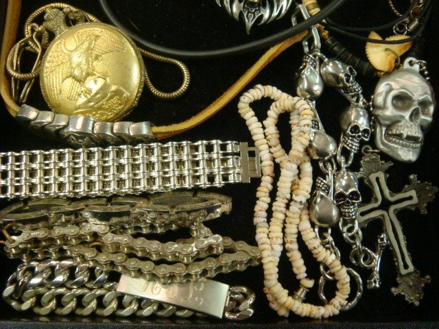 290: Collection of Men's Costume Jewelry: - 4