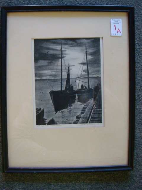 1A: Pencil Signed JOHN W GREGORY Engraving: