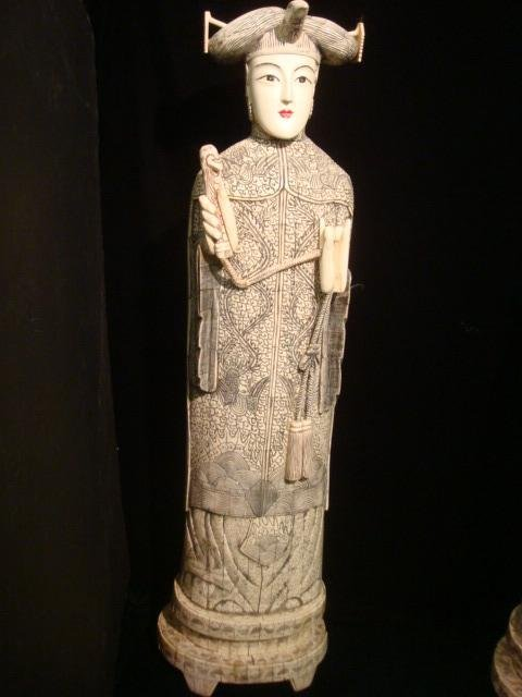 310: Large Chinese Ivory and Bone Empress Statue.