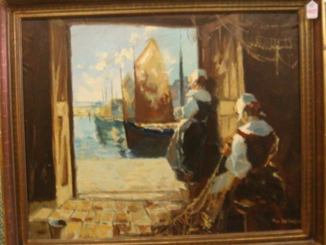 407: Impressionistic Oil on Canvas Signed VAN DER HUISE